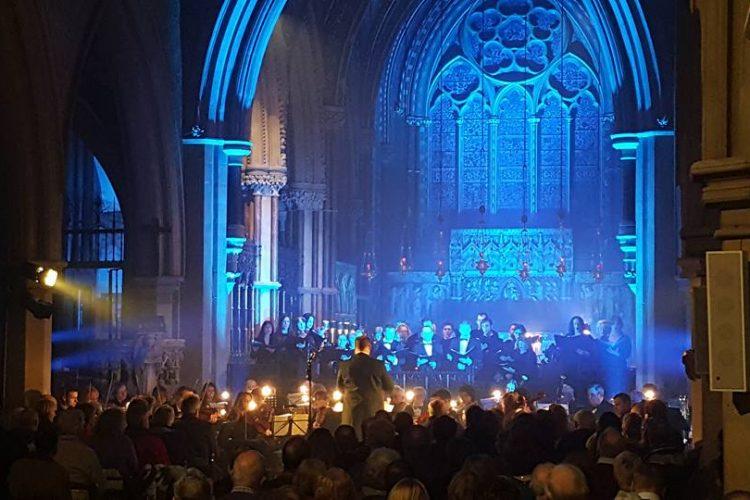 Orchestral concert lighting blue