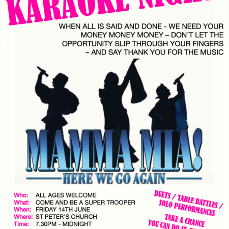 Mamma Mia Karaoke Night – St Peter's Church Bournemouth