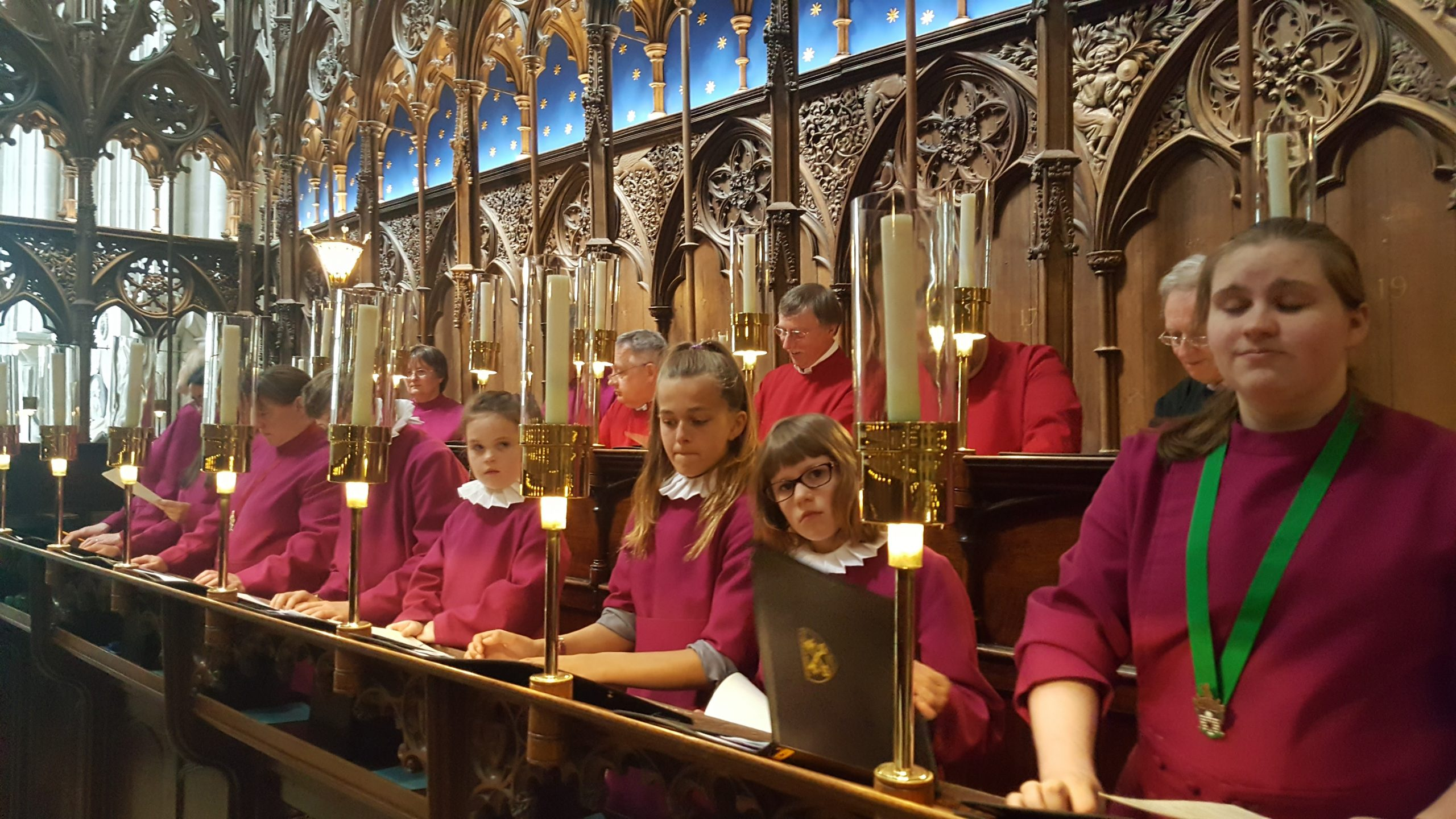 Choir at Winchester Cathedral in 2017