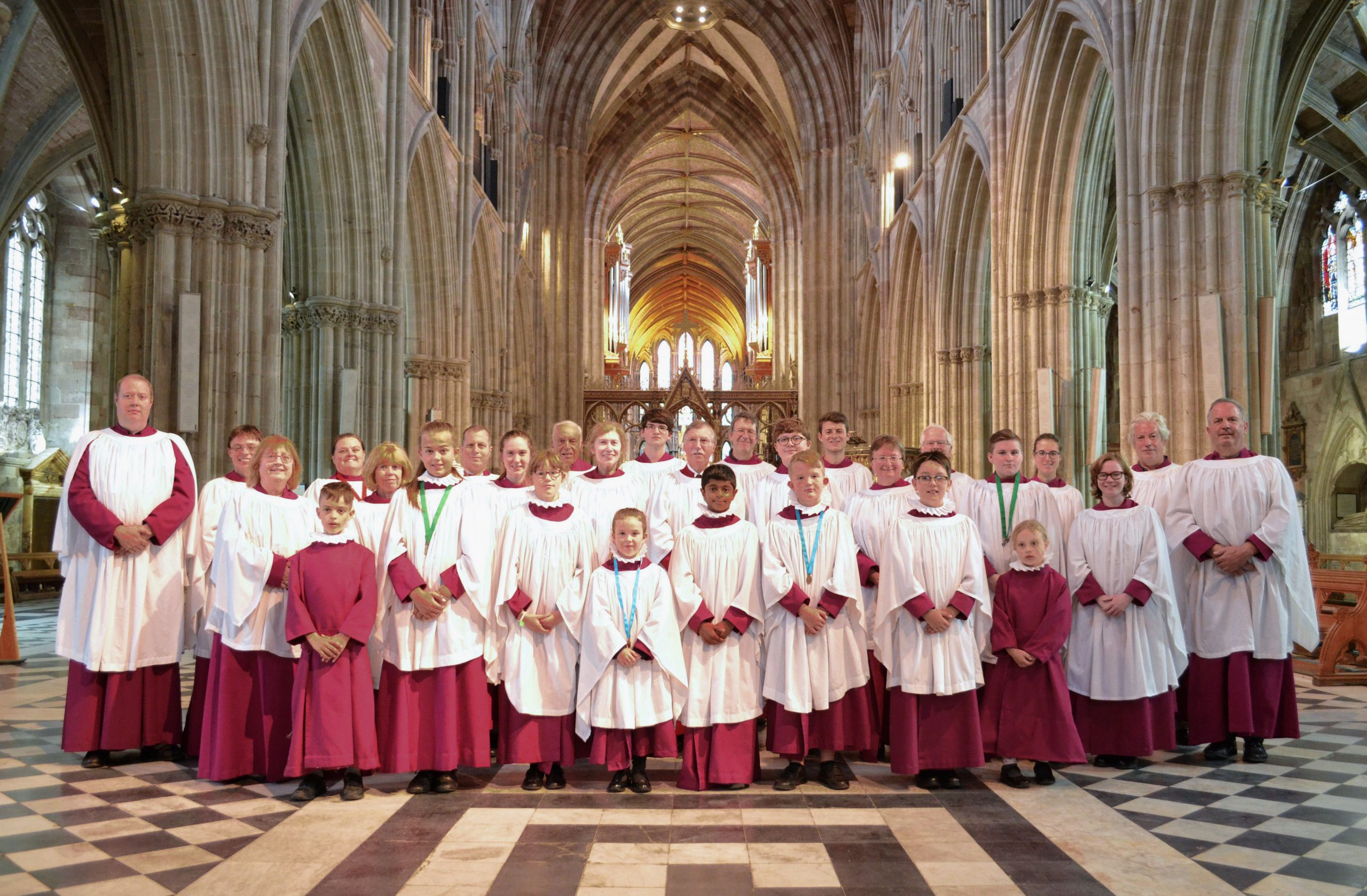 Choir at Worcester Cathedral